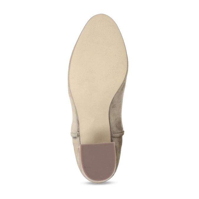 Béžová dámská kožená Chelsea obuv bata, hnědá, 693-4601 - 18
