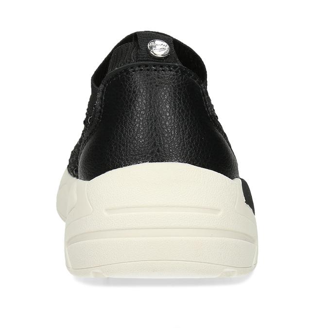 Dámská černá slip-on obuv se třpytkami bata-light, černá, 531-6602 - 15