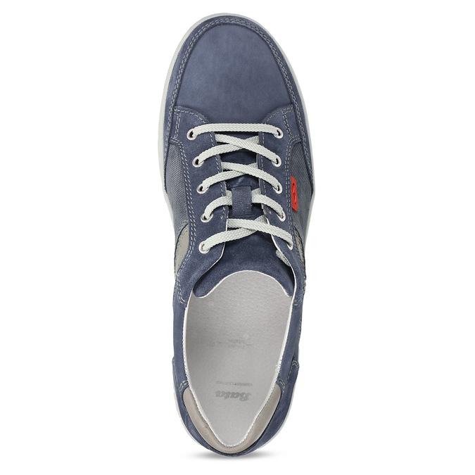 Modré kožené tenisky s prošitím bata, modrá, 846-9603 - 17