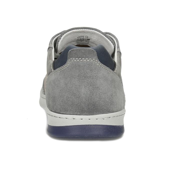 Šedé pánské kožené ležérní tenisky bata, šedá, 846-2603 - 15