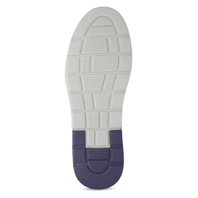 Modré kožené tenisky s prošitím bata, modrá, 846-9603 - 18