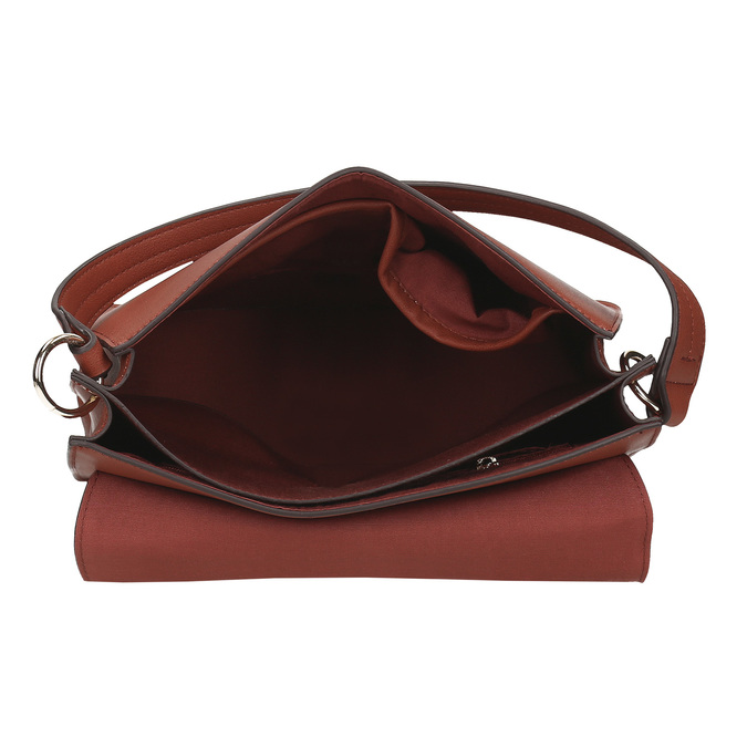 Dámská kabelka s kulatou sponou bata-red-label, hnědá, 961-5838 - 15