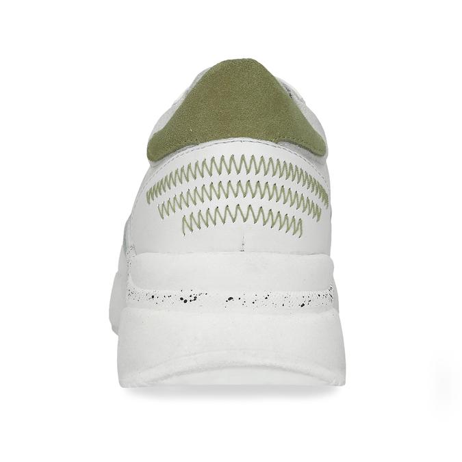 Dámské bílé tenisky se zelenými detaily bata, bílá, 546-1606 - 15