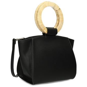 Dámská černá kabelka s kulatými uchy bata-red-label, černá, 961-6841 - 13