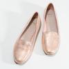 Metalické dámské Loafers mokasíny bata, růžová, 521-5620 - 16