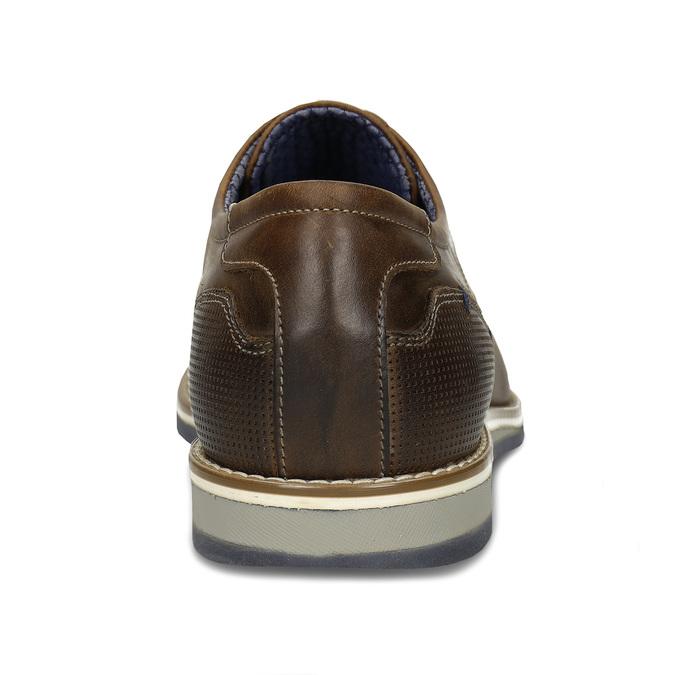 Pánské neformální kožené polobotky v hnědé kůži bata, hnědá, 826-3610 - 15