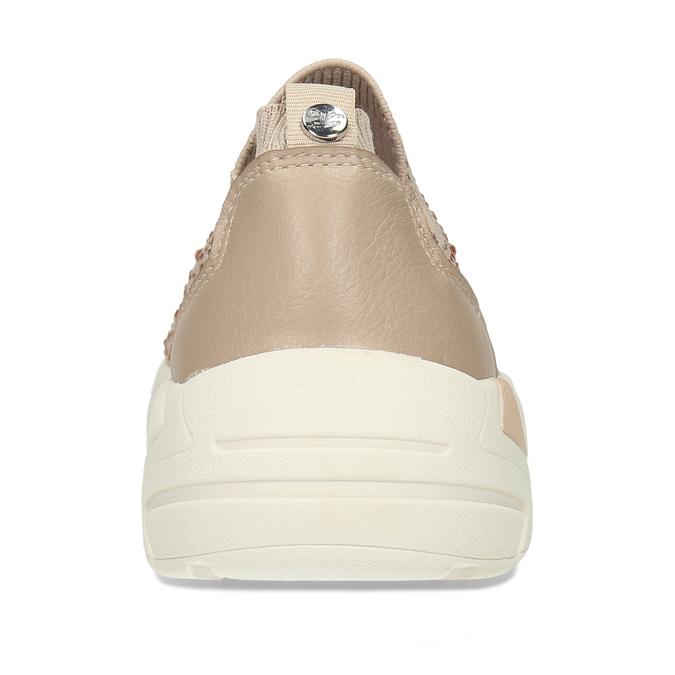 Dámská béžová slip-on obuv se třpytkami bata-light, béžová, 531-8602 - 15