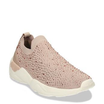 Dámská béžová slip-on obuv se třpytkami bata-light, béžová, 531-8602 - 13