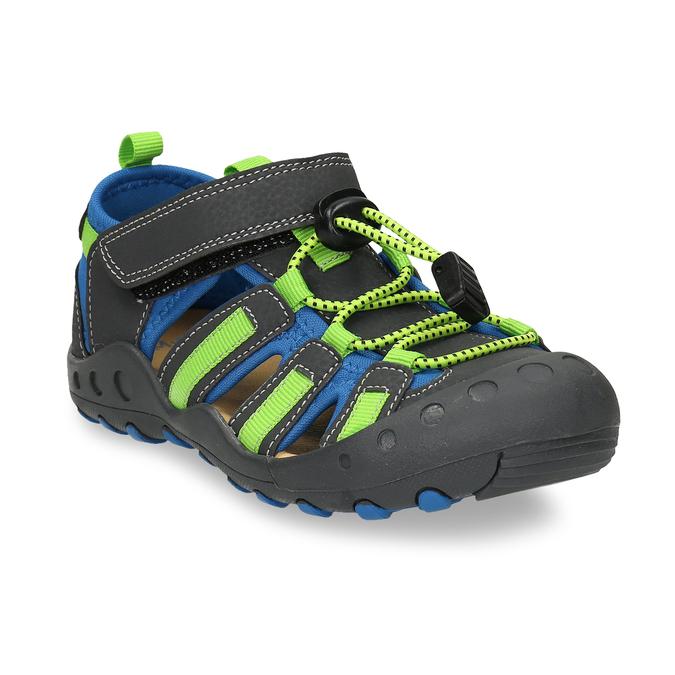 Dětské sandály s modrými a zelenými detaily mini-b, modrá, 461-2706 - 13