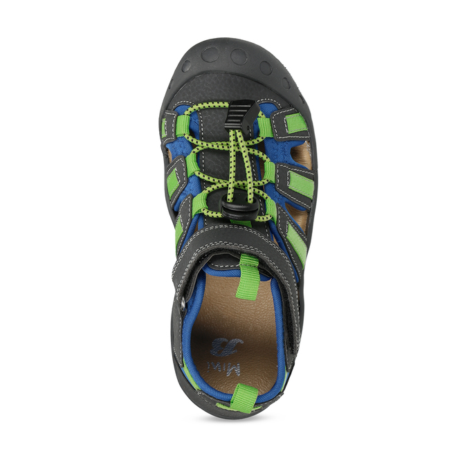 Dětské sandály s modrými a zelenými detaily mini-b, modrá, 461-2706 - 17
