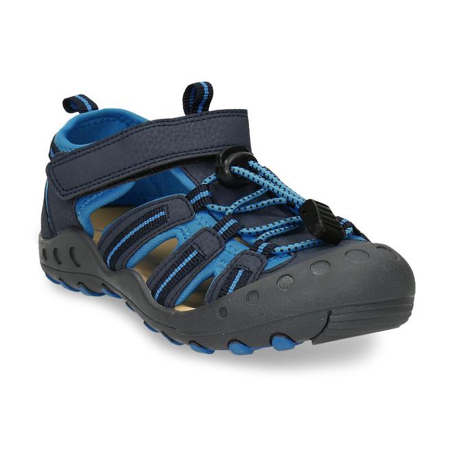 Modré dětské sandály na suchý zip mini-b, modrá, 261-9806 - 13