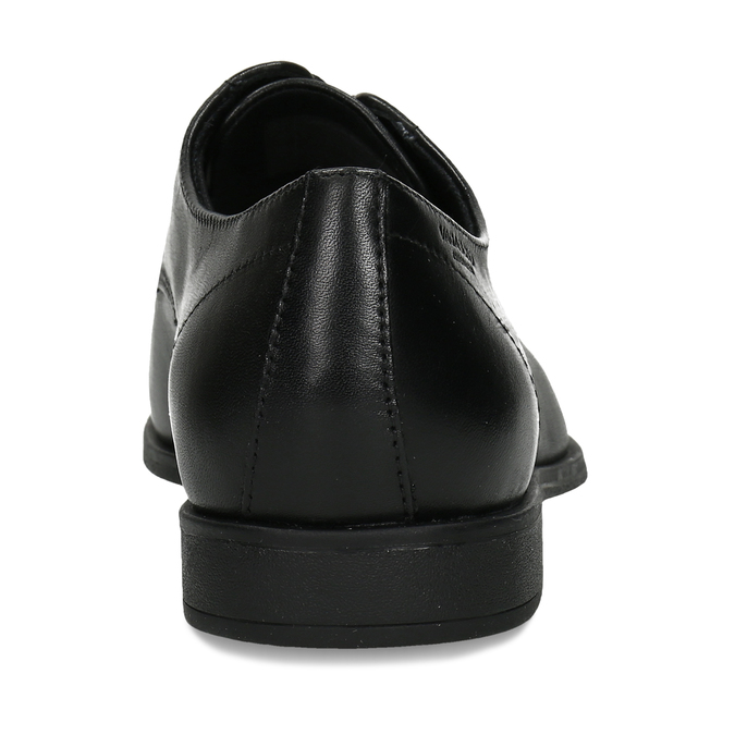 Černé dámské kožené polobotky vagabond, černá, 524-6118 - 15