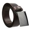 Tmavě hnědý pánský kožený opasek s kovovou sponou bata, hnědá, 954-4603 - 13