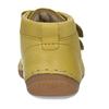 Žluté dětské kožené kotníkové tenisky froddo, žlutá, 124-8613 - 15