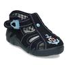 Tmavě modré chlapecké papuče s vyšitou kotvou mini-b, modrá, 179-9603 - 13