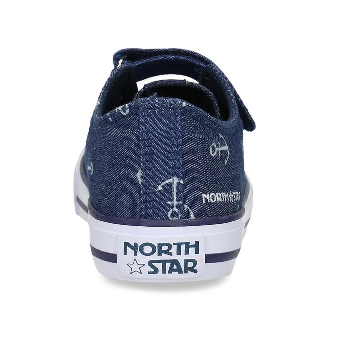 Dětské modré tenisky s potiskem north-star, modrá, 419-9625 - 15