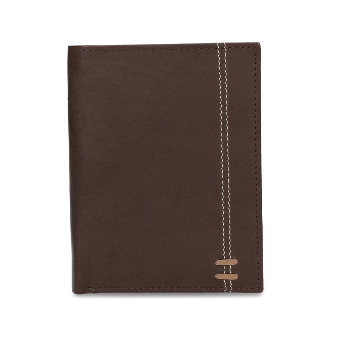 Tmavě hnědá pánská kožená peněženky bata, hnědá, 944-4639 - 26