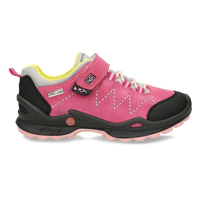 Dětské růžové tenisky z broušené kůže mini-b, růžová, 423-5611 - 19