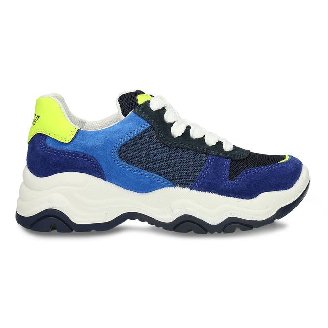 Modré dětské tenisky ve sportovním stylu mini-b, modrá, 419-9623 - 19