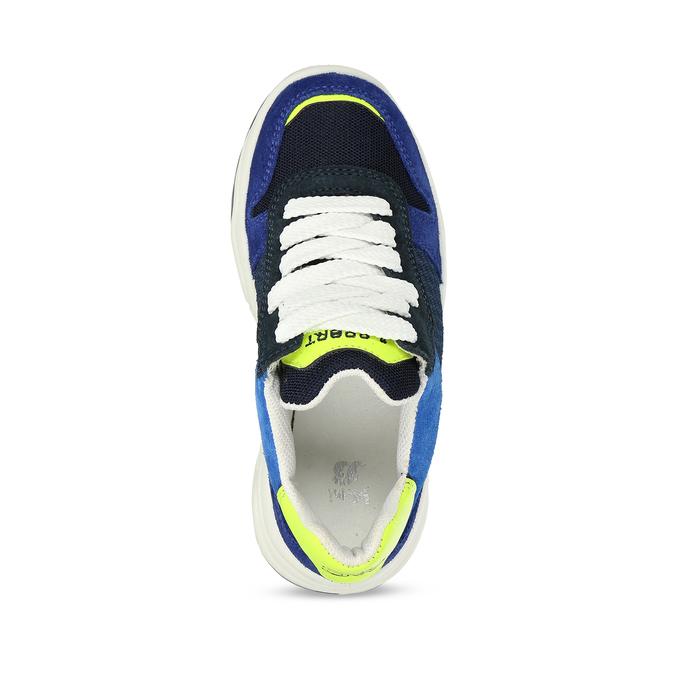 Modré dětské tenisky ve sportovním stylu mini-b, modrá, 419-9623 - 17