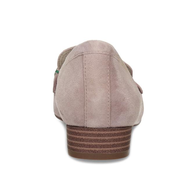 Dámské kožené béžové mokasíny se stuhou bata, béžová, 513-8602 - 15