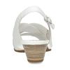 Bílé kožené dámské sandály pro širší chodidla gabor, bílá, 664-1104 - 15