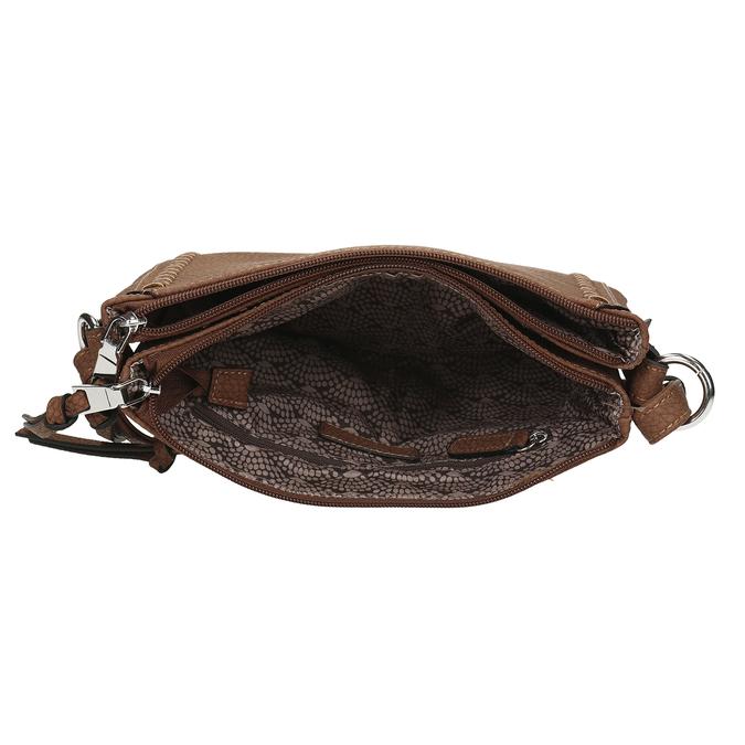 Hnědá kabelka s výrazným prošitím gabor, hnědá, 961-3822 - 15