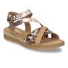 Béžové dámské páskové sandály s hadím motivem gabor, béžová, 564-3101 - 13