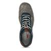 Šedo-modré kožené tenisky s perforací bugatti, šedá, 846-2936 - 17