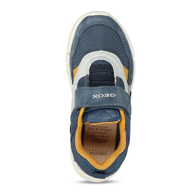 Modré chlapecké tenisky na suchý zip geox, modrá, 319-9715 - 17