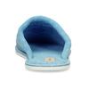 Modrá lehká dámská domácí obuv s výšivkou bata, modrá, 579-9600 - 15