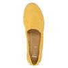 Žluté dámské espadrilky z broušené kůže bata, žlutá, 533-8616 - 17