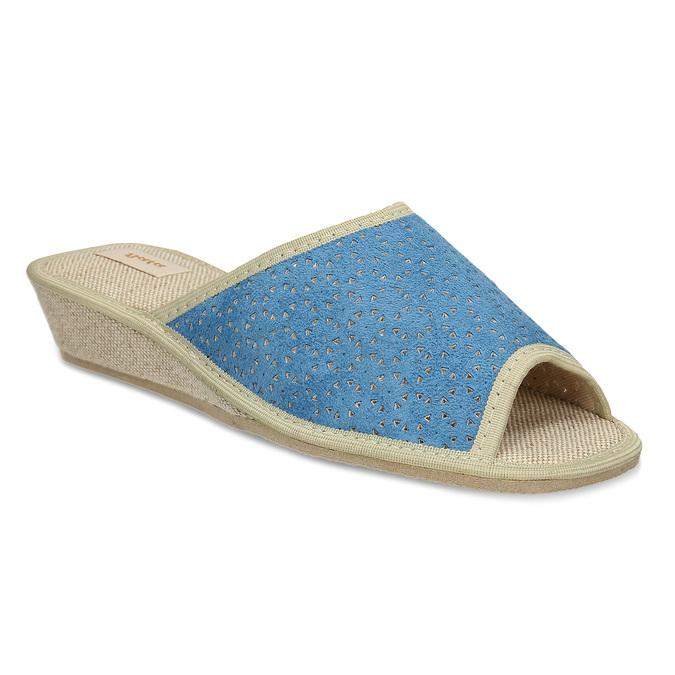 Modré dámské domácí pantofle bata, modrá, 679-9607 - 13