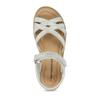 Dětské stříbrné kožené sandály mini-b, bílá, 364-1602 - 17