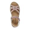Růžové dětské sandály z broušené kůže mini-b, růžová, 363-5601 - 17
