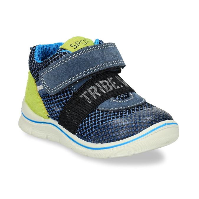 Dětská modrá kotníčková obuv na suché zipy bubblegummers, modrá, 111-9635 - 13