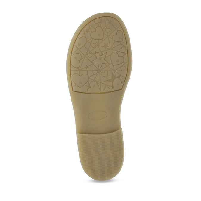 Dětské stříbrné kožené sandály mini-b, bílá, 364-1602 - 18