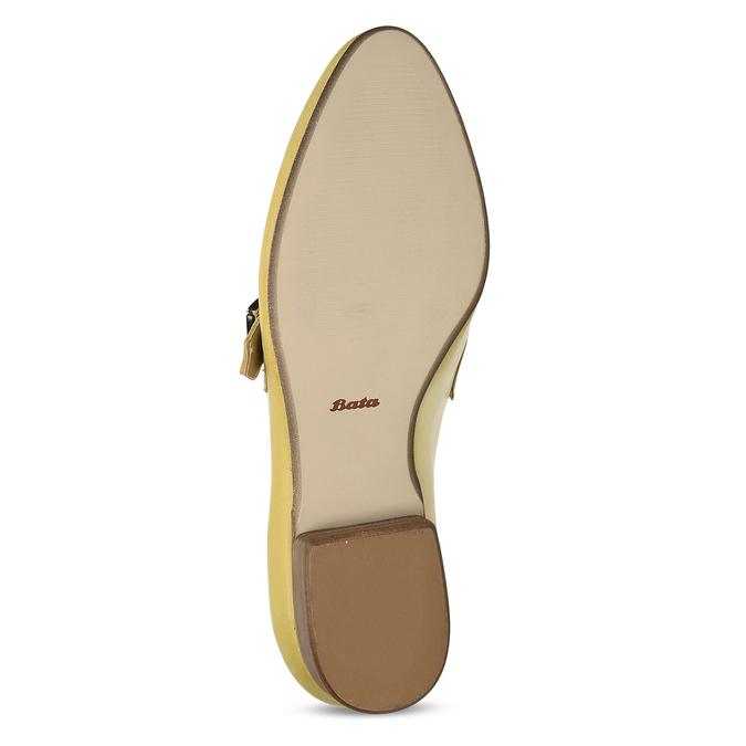 Kožené dámské mokasíny bata, žlutá, 514-8605 - 18