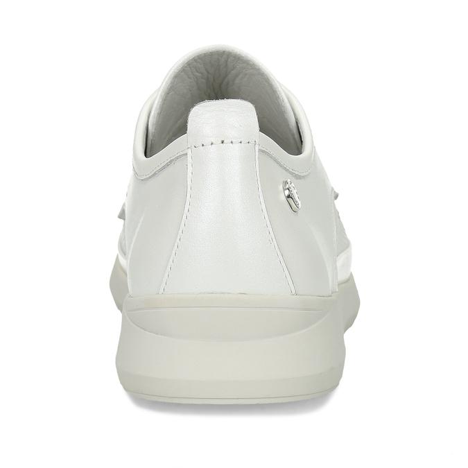 Bílé dámské kožené sportovní polobotky flexible, bílá, 524-1619 - 15