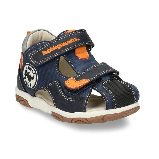 Tmavě modré dětské sandály na suché zipy bubblegummers, modrá, 161-9620 - 13