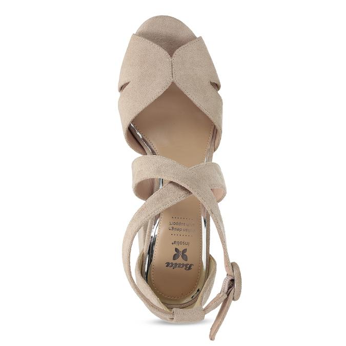 Béžové sandály na vysokém podpatku insolia, béžová, 769-8605 - 17