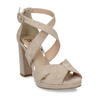 Béžové sandály na vysokém podpatku insolia, béžová, 769-8605 - 13