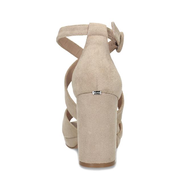 Béžové sandály na vysokém podpatku insolia, béžová, 769-8605 - 15