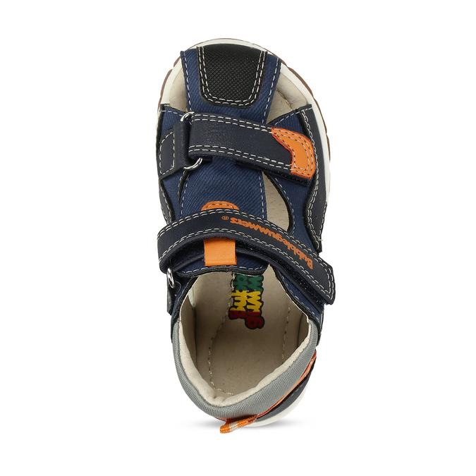 Tmavě modré dětské sandály na suché zipy bubblegummers, modrá, 161-9620 - 17