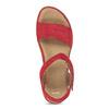 Dámské červené sandály z broušené kůže bata, červená, 563-5601 - 17
