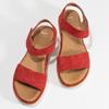 Dámské červené sandály z broušené kůže bata, červená, 563-5601 - 16
