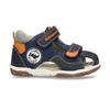 Tmavě modré dětské sandály na suché zipy bubblegummers, modrá, 161-9620 - 19