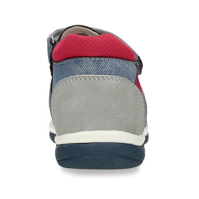 Dětské modré sandály na suché zipy bubblegummers, modrá, 161-9619 - 15
