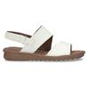 Bílé kožené dámské sandály s prošitím comfit, bílá, 564-1610 - 19