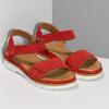 Dámské červené sandály z broušené kůže bata, červená, 563-5601 - 26